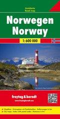 Freytag & Berndt Autokarte Norwegen; Norge; Noorwegen