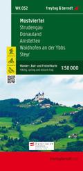 Freytag & Berndt Wander-, Rad- und Freizeitkarte Mostviertel, Strudengau, Donauland, Amstetten, Waidhofen a. d. Ybbs, St