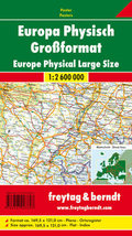 Freytag & Berndt Poster Europa, physisch, Großformat; Europe, physical