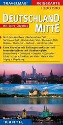 Travelmag Reisekarte Deutschland Mitte