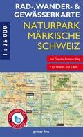 Rad-, Wander- & Gewässerkarte Naturpark Märkische Schweiz