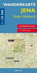 Wanderkarte Jena, Saale, Holzland