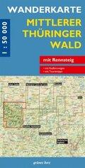 Wanderkarte Mittlerer Thüringer Wald