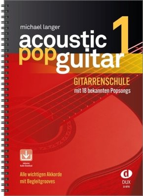 Acoustic Pop Guitar, m. Audio-CD - Bd.1