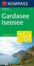 Kompass Karte Gardasee, Iseosee; Lago di Garda, Lago d' Iseo