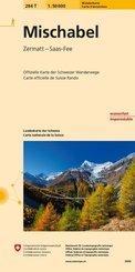 Landeskarte der Schweiz Mischabel