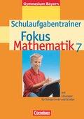 Fokus Mathematik, Gymnasium Bayern: 7. Jahrgangsstufe, Schulaufgabentrainer