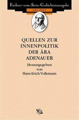 Quellen zur Innenpolitik der Ära Adenauer