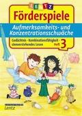 Aufmerksamkeits- und Konzentrationsschwäche - H.3