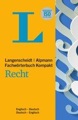 Langenscheidt Alpmann Fachwörterbuch Kompakt Recht, Englisch; Langenscheidt Alpmann Dictionary of La