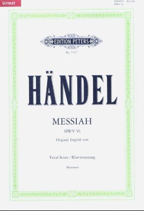 Messias HWV 56 Original English text, Klavierauszug