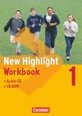 New Highlight, Hauptschule: 5. Schuljahr, Workbook m. Einführungskurs, Audio-CD u. CD-ROM; Bd.1