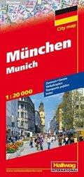 Hallwag CityMap München; Munich; Monaco di Baviera