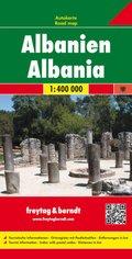Freytag & Berndt Autokarte Albanien 1:400.000; Shqiperia; Albanie. Albania