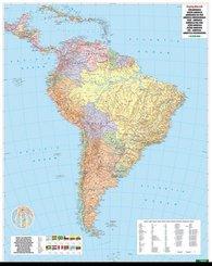 Freytag & Berndt Poster Südamerika, Politisch, ohne Metallstäbe; South America Political