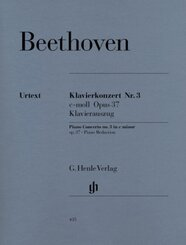 Klavierkonzert Nr.3 c-Moll op.37, Klavierauszug