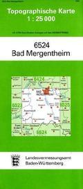 Topographische Karte Baden-Württemberg Bad Mergentheim
