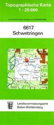 Topographische Karte Baden-Württemberg Schwetzingen