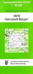 Topographische Karte Baden-Württemberg Helmstadt-Bargen