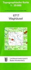 Topographische Karte Baden-Württemberg Waghäusel