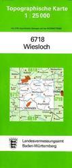 Topographische Karte Baden-Württemberg Wiesloch
