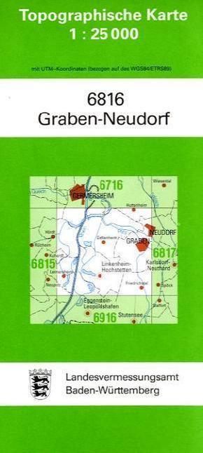 Topographische Karte Baden-Württemberg Graben-Neudorf