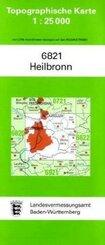 Topographische Karte Baden-Württemberg Heilbronn