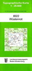 Topographische Karte Baden-Württemberg Wüstenrot