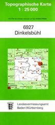Topographische Karte Baden-Württemberg Dinkelsbühl