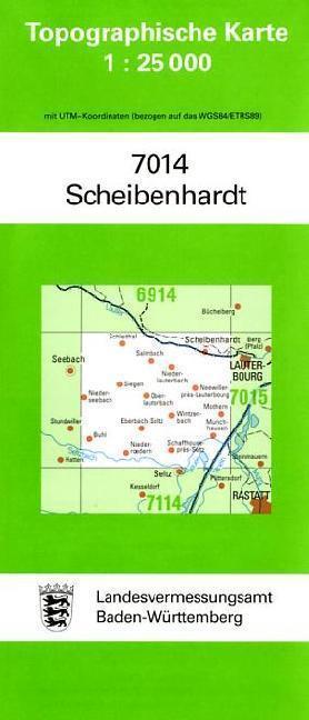 Topographische Karte Baden-Württemberg Scheibenhardt