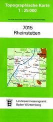 Topographische Karte Baden-Württemberg Rheinstetten