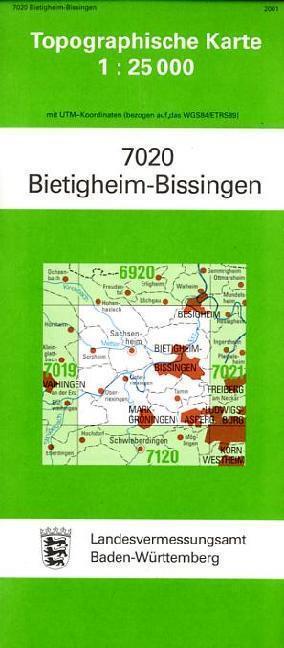 Topographische Karte Baden-Württemberg Bietigheim-Bissingen