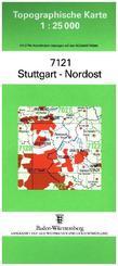 Topographische Karte Baden-Württemberg Stuttgart-Nordost