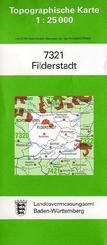 Topographische Karte Baden-Württemberg Filderstadt
