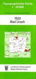 Topographische Karte Baden-Württemberg Bad Urach