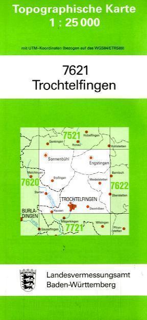 Topographische Karte Baden-Württemberg Trochtelfingen