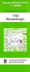 Topographische Karte Baden-Württemberg Munderkingen