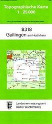 Topographische Karte Baden-Württemberg Gailingen am Hochrhein