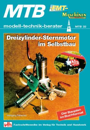 Dreizylinder-Sternmotor im Selbstbau