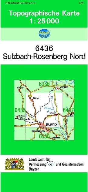 Topographische Karte Bayern.Topographische Karte Bayern Sulzbach Rosenberg Nord