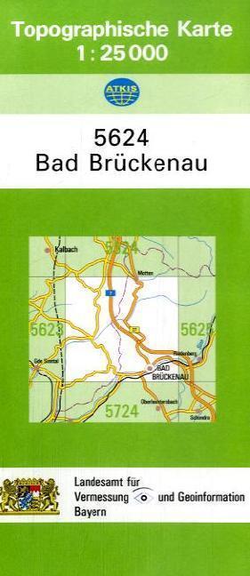 Topographische Karte Bayern.Topographische Karte Bayern Bad Brückenau