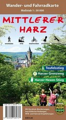 Mittlerer Harz, Wander- und Fahrradkarte