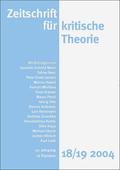 Zeitschrift für kritische Theorie - H.18/19