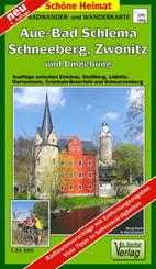 Doktor Barthel Radwander- und Wanderkarte Aue, Schneeberg, Lößnitz, Zwönitz und Umgebung