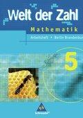 Welt der Zahl, Ausgabe Grundschule 2005 Berlin und Brandenburg: 5. Schuljahr, Arbeitsheft