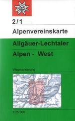 Alpenvereinskarte Allgäuer-Lechtaler Alpen - West