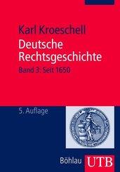 Deutsche Rechtsgeschichte - Bd.3