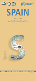 Borch Map Spanien; Espana; Spain