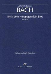 Brich dem Hungrigen dein Brot / Kantate Nr.39, Klavierauszug