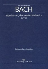 Nun komm, der Heiden Heiland II / Kantate Nr.62 h-Moll, Klavierauszug